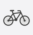bike silhouette icon on white background bicycle vector image