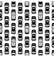 black and white police cars seamless pattern vector image vector image
