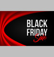 black friday inscription on black background vector image