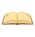 cartoon open book with blank pages vector image vector image