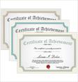 Certificate template set vector image vector image