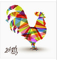 Chinese new year of rooster abstract color design vector image