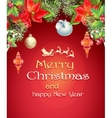 christmas card with branches a tree vector image vector image