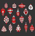 christmas tree toys and balls drawn hand vector image vector image