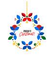 christmas wreath scandinavian style flat vector image vector image