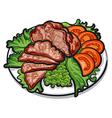 cold pork vector image vector image