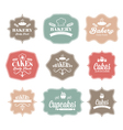 collection of vintage retro bakery logo labels