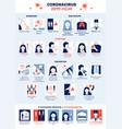 Covid19-19 flat infographics