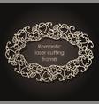 decorative frame for laser cutting elegant vector image