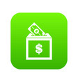 donation box icon digital green vector image vector image