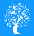 education and technology tree vector image vector image