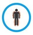 Exoskeleton Rounded Icon vector image