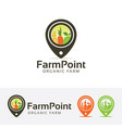 farm point logo design vector image vector image