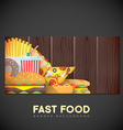 fast food banner backdrop template vector image vector image