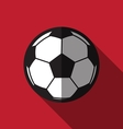 flat football icon over red background vector image vector image