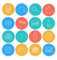 flat lines icons of business and finance vector image vector image