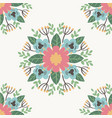 floral flower pattern ornament vector image