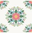 floral flower pattern ornament vector image vector image