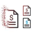 fractured pixel halftone price list icon vector image vector image