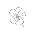 geranium flower simple black lined icon vector image vector image