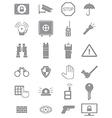 Gray guard icons set vector image