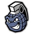 grenade mascot vector image vector image