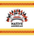 headwear native american with feathers accessory vector image vector image