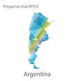 isolated icon argentina map polygonal vector image vector image