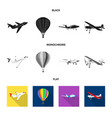 isolated object plane and transport sign vector image vector image