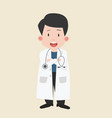 kid boy doctor cartoon vector image