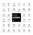 line icons set seo vector image vector image