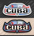 logo for cuba vector image vector image