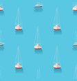 marine print seamless pattern with yachts in the vector image vector image