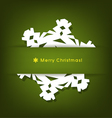 Merry Christmas postcard with origami snowflake vector image vector image