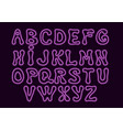 neon style alphabet with hand drawn letter shapes vector image