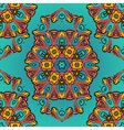ornate symmetry seamless oriental pattern vector image vector image