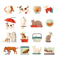 Pet Shop Icons Set vector image vector image