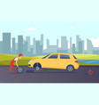 roadside assistance tire fitting service vector image vector image