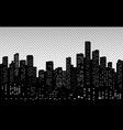 seamless modern cityscape silhouette vector image vector image