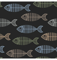 Seamless Tile With 50s Retro Fish Bone Pattern vector image vector image