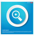 search icon abstract blue web sticker button vector image