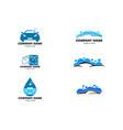 set car wash logo template designs vector image vector image