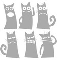 Set cute cat character with various emotions