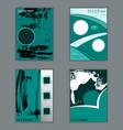 set of flyer brochure design vector image vector image