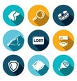 set stray dogs icons pooch search vector image vector image