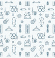 sewing equipment tailor supplies seamless pattern vector image vector image