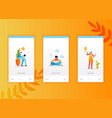 social networking onboarding screens template vector image