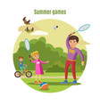 summer active leisure concept vector image vector image