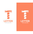 Unique letter t logo design template