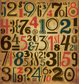 Vintage numbers vector | Price: 1 Credit (USD $1)